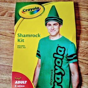 Crayola Halloween costume, green adult sz L